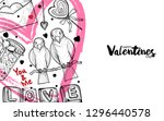 illustration of valentine with... | Shutterstock .eps vector #1296440578