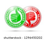 approved and rejected thumbs up ... | Shutterstock .eps vector #1296450202