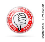 fake thumbs down icon | Shutterstock .eps vector #1296450205
