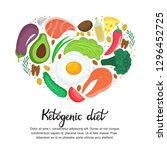 healthy foods  vegetables  nuts ... | Shutterstock .eps vector #1296452725
