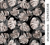 tropical plants. summer design... | Shutterstock .eps vector #1296453148