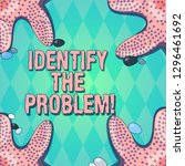 text sign showing identify the... | Shutterstock . vector #1296461692