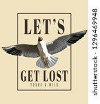 let's get lost. vector hand... | Shutterstock .eps vector #1296469948