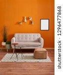 orange room  orange wall and... | Shutterstock . vector #1296477868