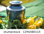 Close Up On A Burial Urn With...