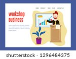 landing page illustration... | Shutterstock .eps vector #1296484375