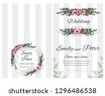 vector template for wedding... | Shutterstock .eps vector #1296486538
