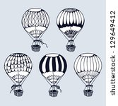 balloons | Shutterstock .eps vector #129649412