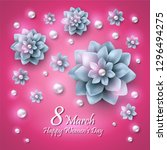 greeting card for women s day....   Shutterstock .eps vector #1296494275
