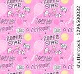 girlish pink sketch seamless... | Shutterstock .eps vector #1296500032