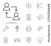 replacement of employee icon.... | Shutterstock .eps vector #1296506668