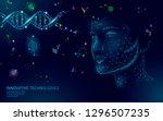 dna molecule treatment cosmetic ... | Shutterstock .eps vector #1296507235