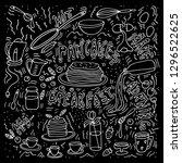 vector illustration. doodle... | Shutterstock .eps vector #1296522625