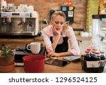 worried new business owner... | Shutterstock . vector #1296524125