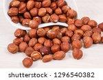 hazelnuts as source healthy... | Shutterstock . vector #1296540382