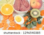 nutritious eating containing... | Shutterstock . vector #1296540385