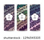 abstract banner with a handmade ... | Shutterstock .eps vector #1296545335