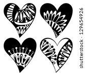 set of composite hearts for... | Shutterstock . vector #129654926