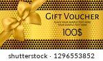 gift voucher  gift certificate  ... | Shutterstock .eps vector #1296553852