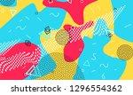 pop art color background.... | Shutterstock .eps vector #1296554362