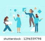 vector illustration in flat...   Shutterstock .eps vector #1296559798