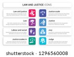 set of 8 white law and justice... | Shutterstock .eps vector #1296560008