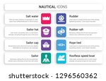 set of 8 white nautical icons... | Shutterstock .eps vector #1296560362