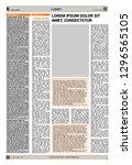 design art newspaper background | Shutterstock .eps vector #1296565105