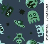 children sci fi pattern.... | Shutterstock .eps vector #1296568285