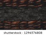 texture of dark brown wicker...   Shutterstock . vector #1296576808