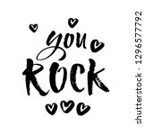 you rock. valentines day... | Shutterstock .eps vector #1296577792