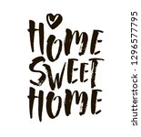 home sweet home postcard. hand... | Shutterstock .eps vector #1296577795