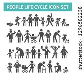 people life cycle icons. vector ... | Shutterstock .eps vector #1296582238