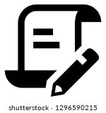 write script scroll vector icon | Shutterstock .eps vector #1296590215