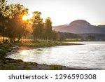 Sunset Sigdal Norway Buskerud...