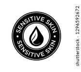 sensitive skin icon. label with ... | Shutterstock .eps vector #1296592672