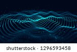wave of particles. abstract... | Shutterstock . vector #1296593458