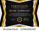 certificate template with... | Shutterstock .eps vector #1296606265