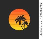 summer holidays design labels ... | Shutterstock .eps vector #1296609715