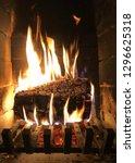 parisien chimney with alder... | Shutterstock . vector #1296625318