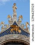 beautiful figurines and mosaics ...   Shutterstock . vector #1296625525