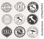 italy travel stamp made in... | Shutterstock .eps vector #1296629692