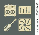 mixer icon set with sound mixer ...   Shutterstock .eps vector #1296631438