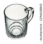 empty glass cup isolated on... | Shutterstock . vector #1296638842