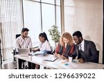 office people are working in... | Shutterstock . vector #1296639022