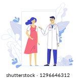 medicine concept of pregnancy... | Shutterstock .eps vector #1296646312
