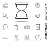 hourglass icon. mobile banking...