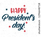 happy presidents day. vector... | Shutterstock .eps vector #1296648718