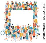 modern multicultural society... | Shutterstock .eps vector #1296650518