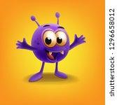 cute alien illustration | Shutterstock .eps vector #1296658012